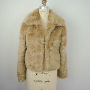 Express Faux Fur Jacket Coat